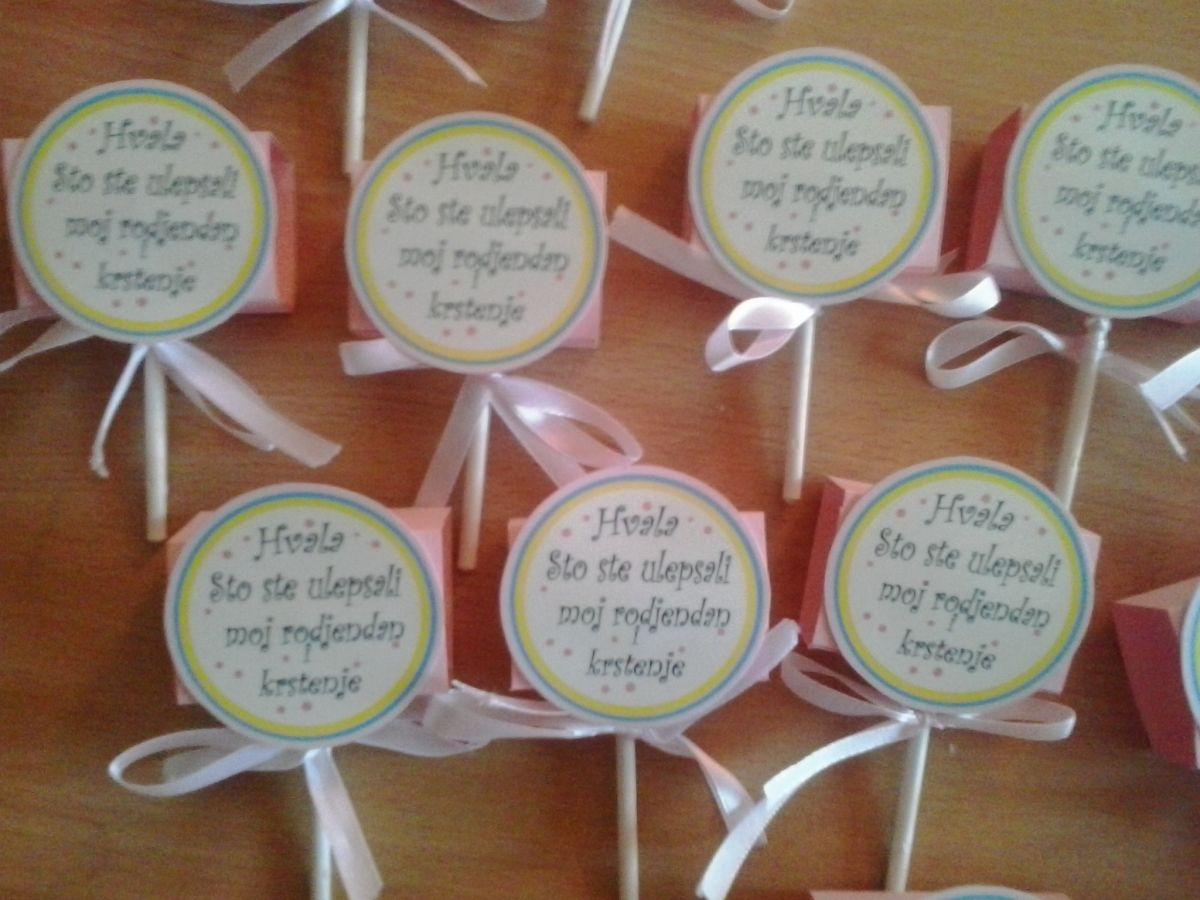 zahvalnica za rođendan Vas Divan Dan – Pakovane lizalice zahvalnice zahvalnica za rođendan